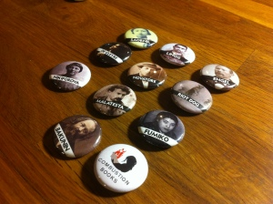 example one-inch buttons