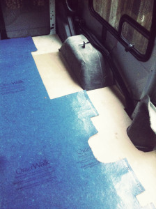 Fitting the QuietWalk underlayment